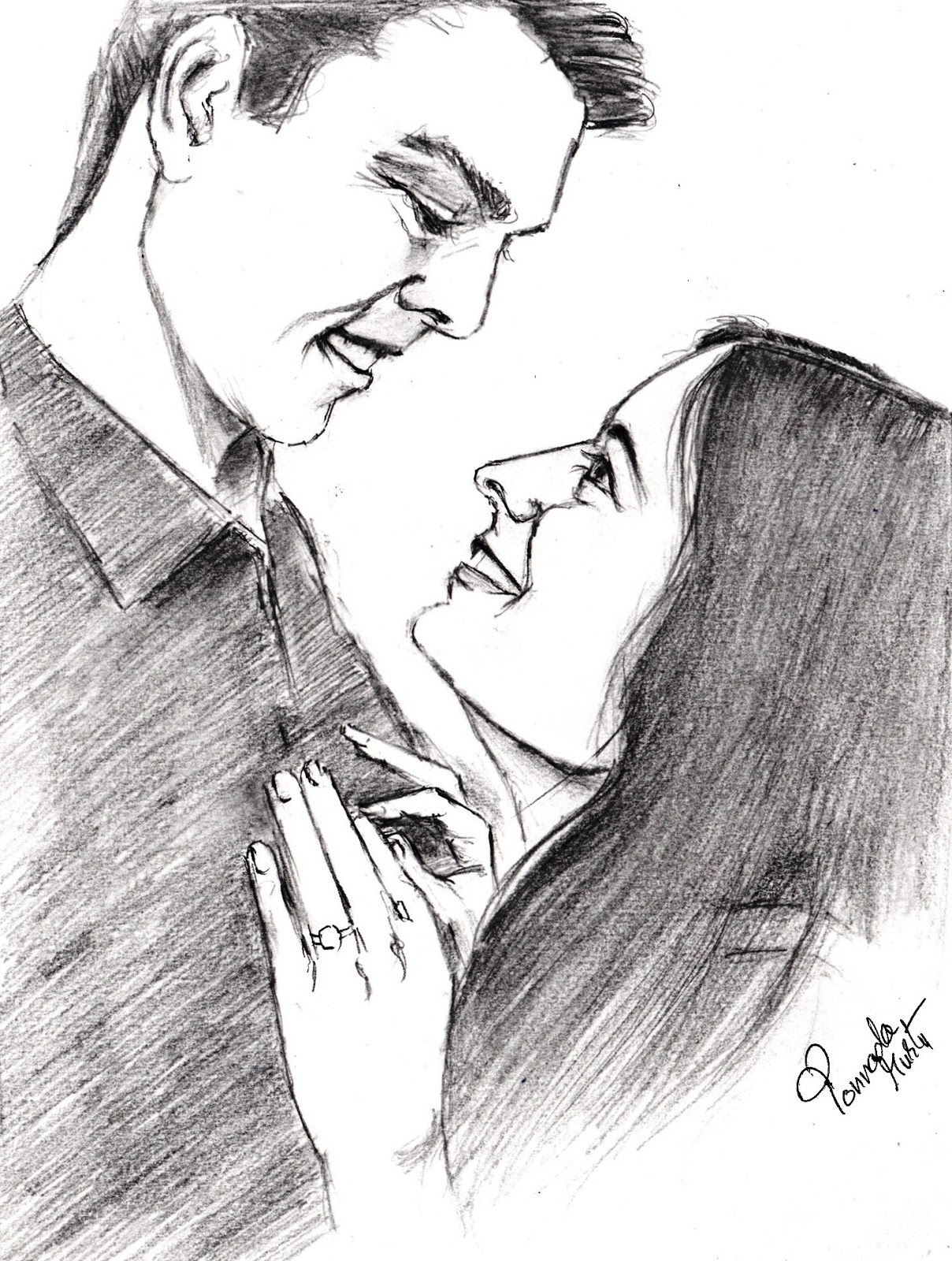 1208x1600 Pencil Sketch Of Lovers