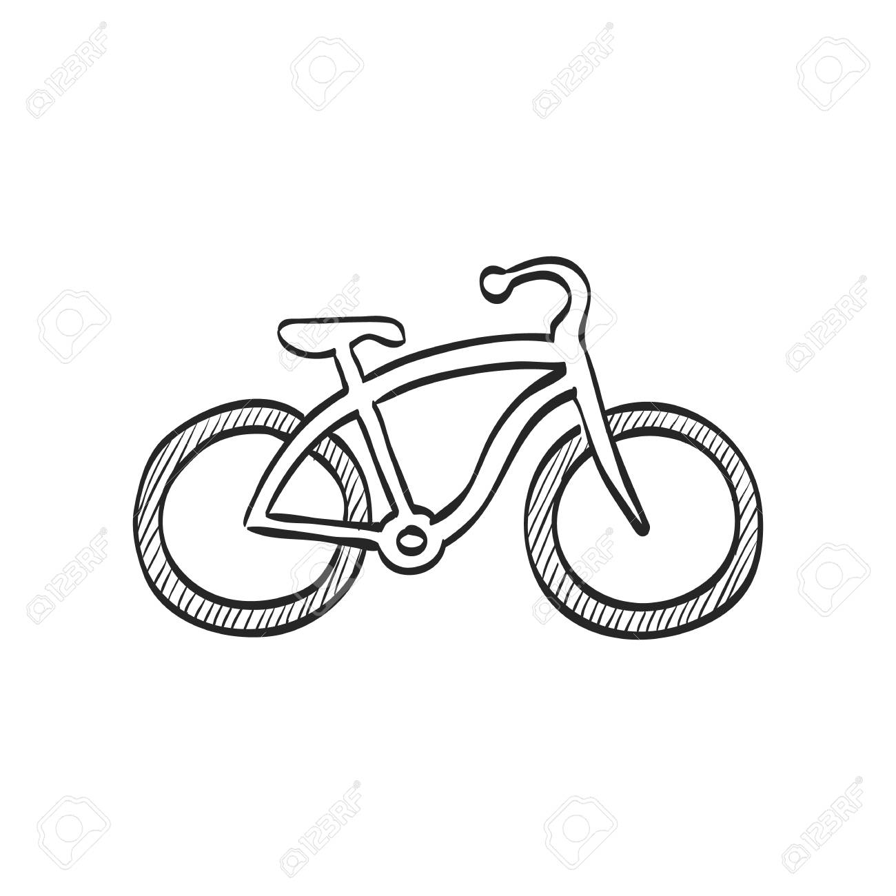 1300x1300 Low Rider Bicycle Icon In Doodle Sketch Lines. Sport