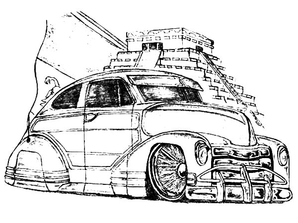 600x450 Picture Of Lowrider Cars Coloring Pages Picture Of Lowrider Cars