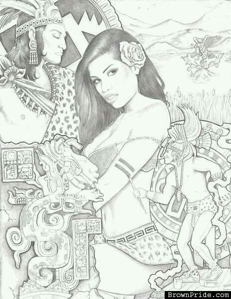 463x600 Aztec Princess Tattoos Aztec, Aztec Art