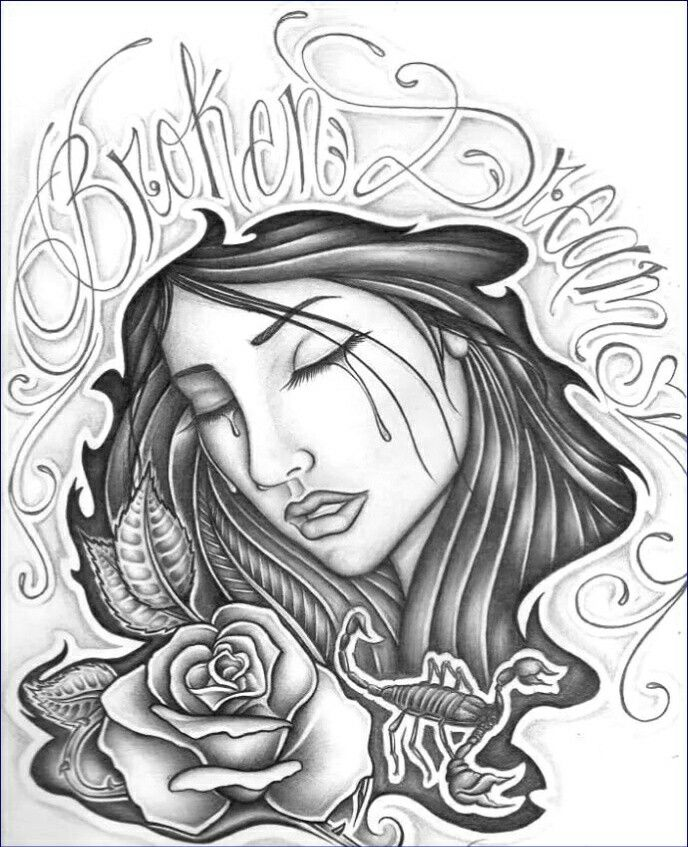 688x847 Crying Gangster Girl Tattoos Pictures To Pin