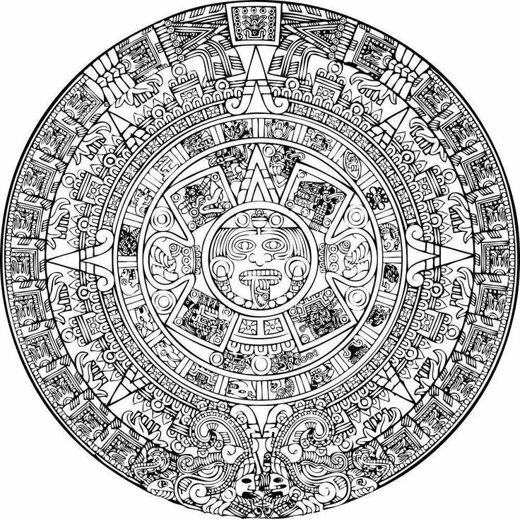 736x734 Drawn Handprint Aztec