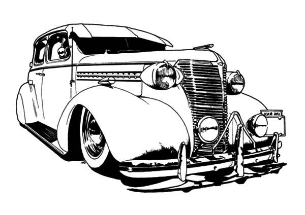 600x424 Drawn Vehicle Lowride Car