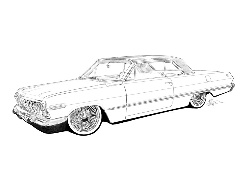 800x600 11 Images Of Lowrider Car Coloring Pages