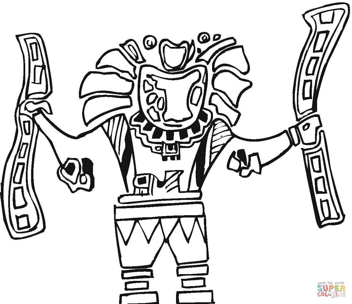 1200x1037 Aztec Art Drawings Tattoo Artist Enrique Castillo