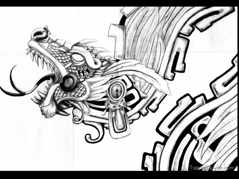 1540x1155 Aztec Drawings Art Tattoo Artist Enrique Castillo