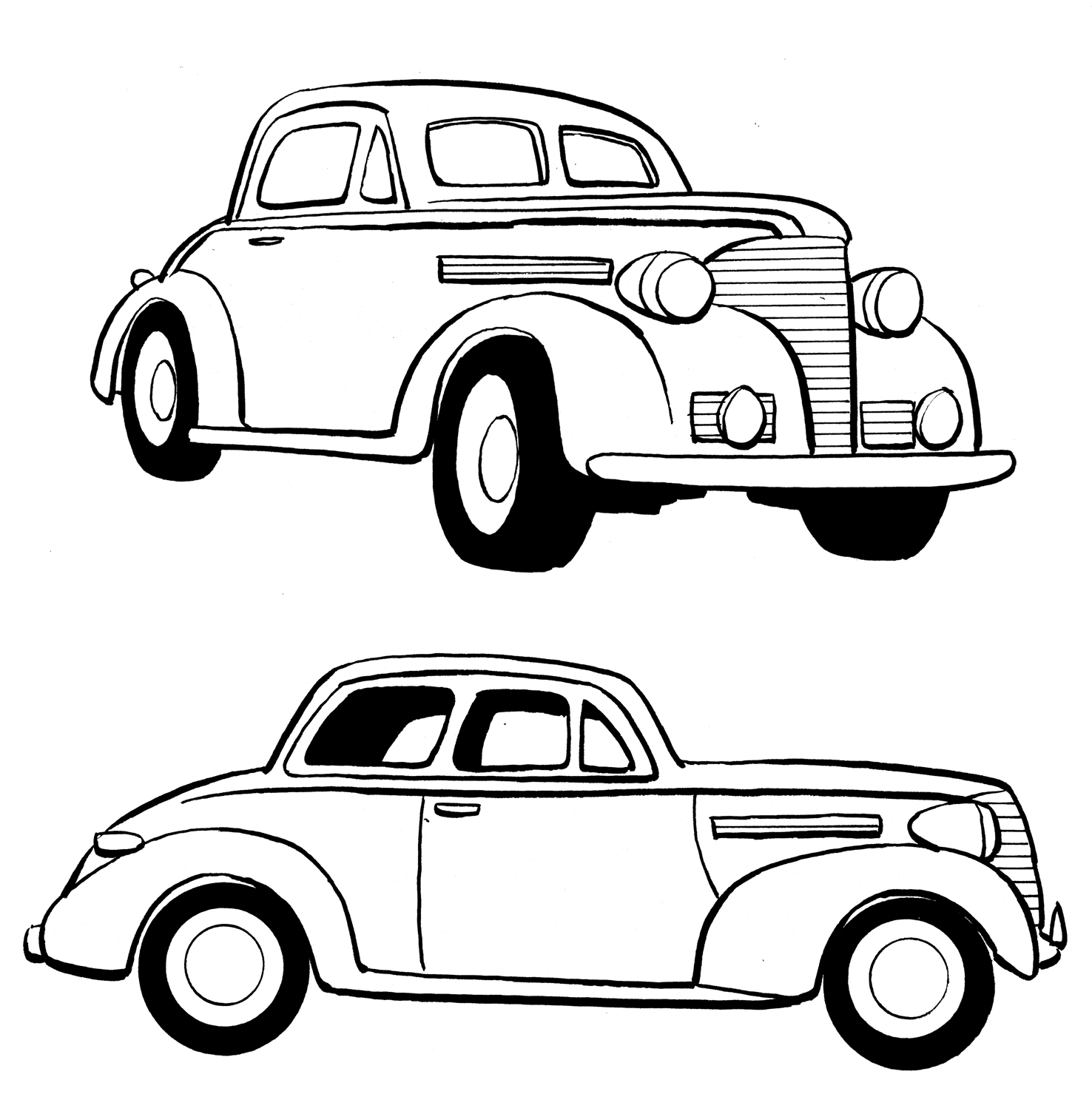 Lowrider Cars Drawing