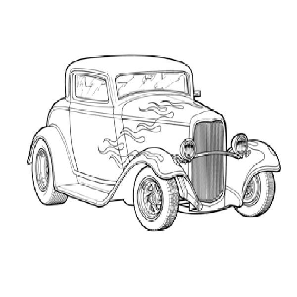 600x600 Street Rod Lowrider And Other Cars To Color Cars