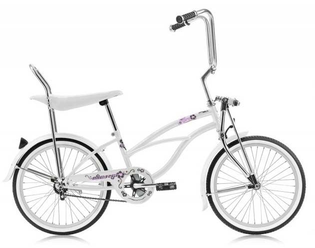 631x498 Micargi Hero Lowrider Bike For Girls White