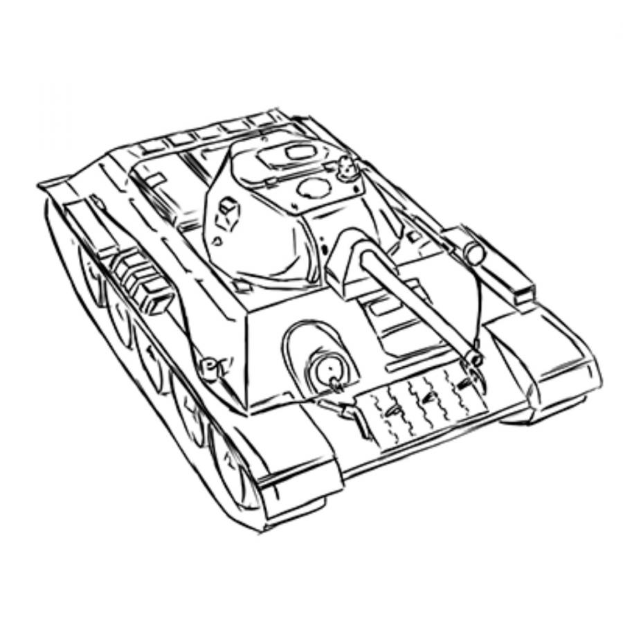 900x900 How To Draw The Soviet Heavy Kv 2 Tank With A Pencil Step By Step