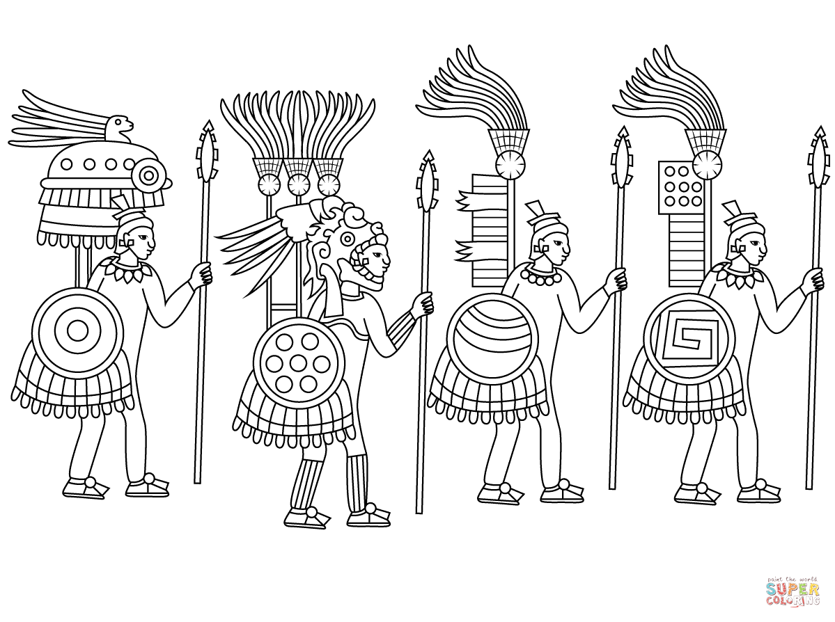 1199x894 Aztec Warrior Coloring Pages Aztec Mask Coloring Pages
