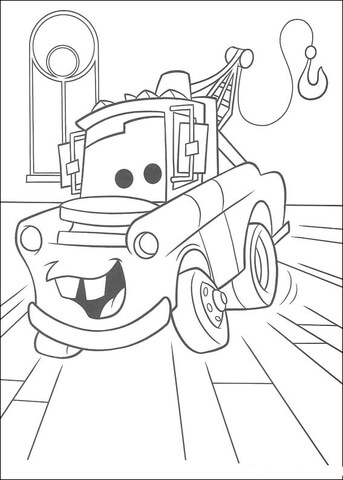 343x480 Mater Truck Coloring Page Free Printable Coloring Pages