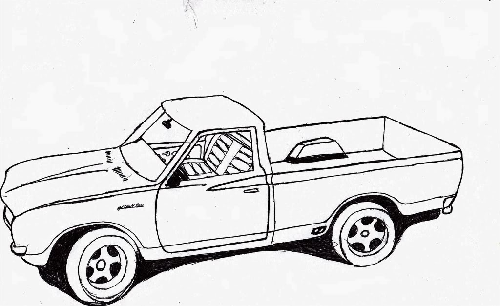 lowrider truck drawing at getdrawings com