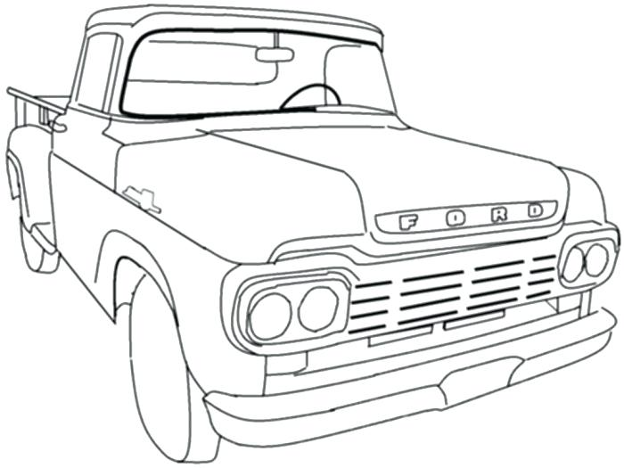 700x525 Classic Truck Coloring Sheets