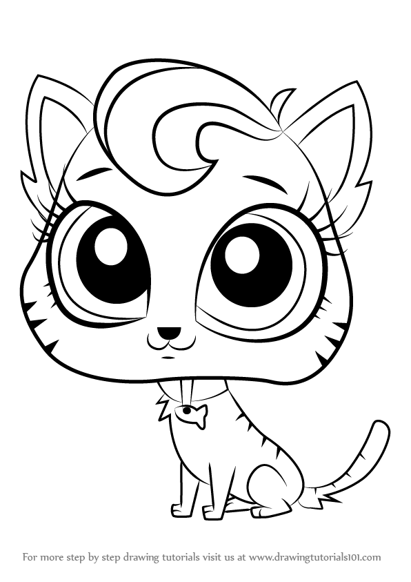 596x843 Learn How To Draw Meow Meow From Littlest Pet Shop (Littlest Pet