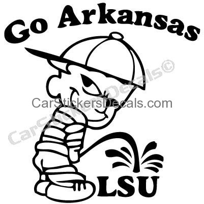 401x400 Arkansas Pee On Lsu Sticker Amp Decal