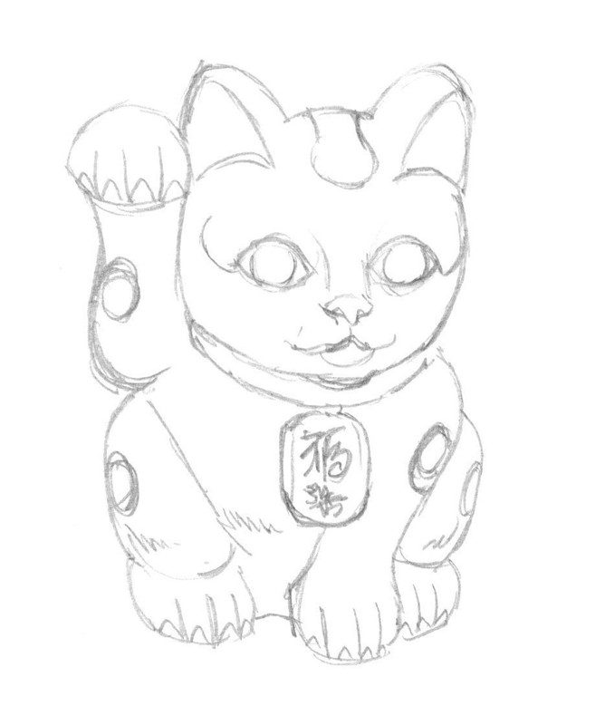 668x800 Maneki Neko Extract From 50 Things Draw By Ed Tadem How