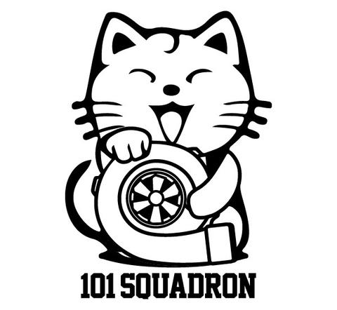 480x442 Maneki Neko Turbo Sticker 101 Squadron
