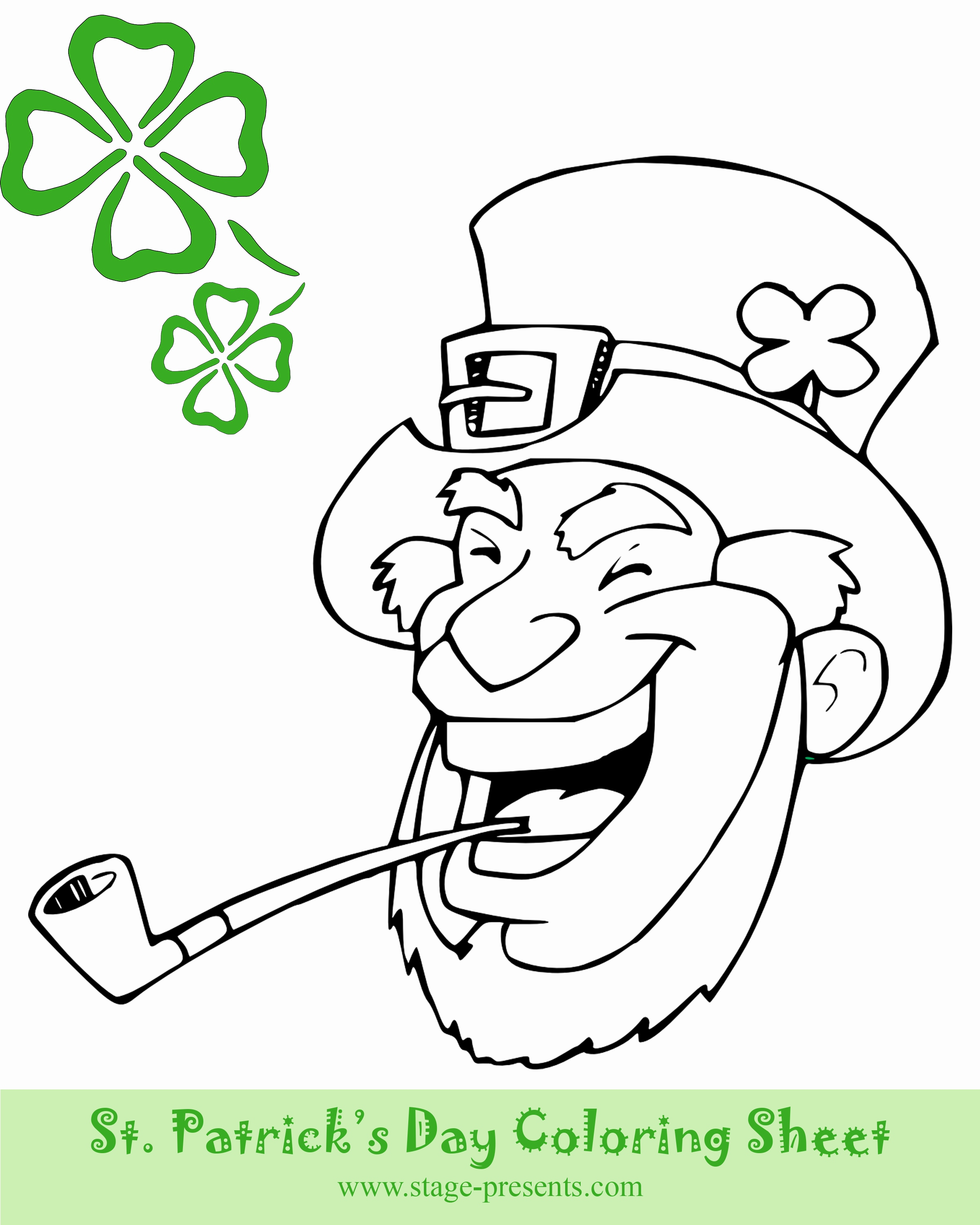 2400x3000 Lucky Charms Coloring Pages Images Three Four Leaf Clover