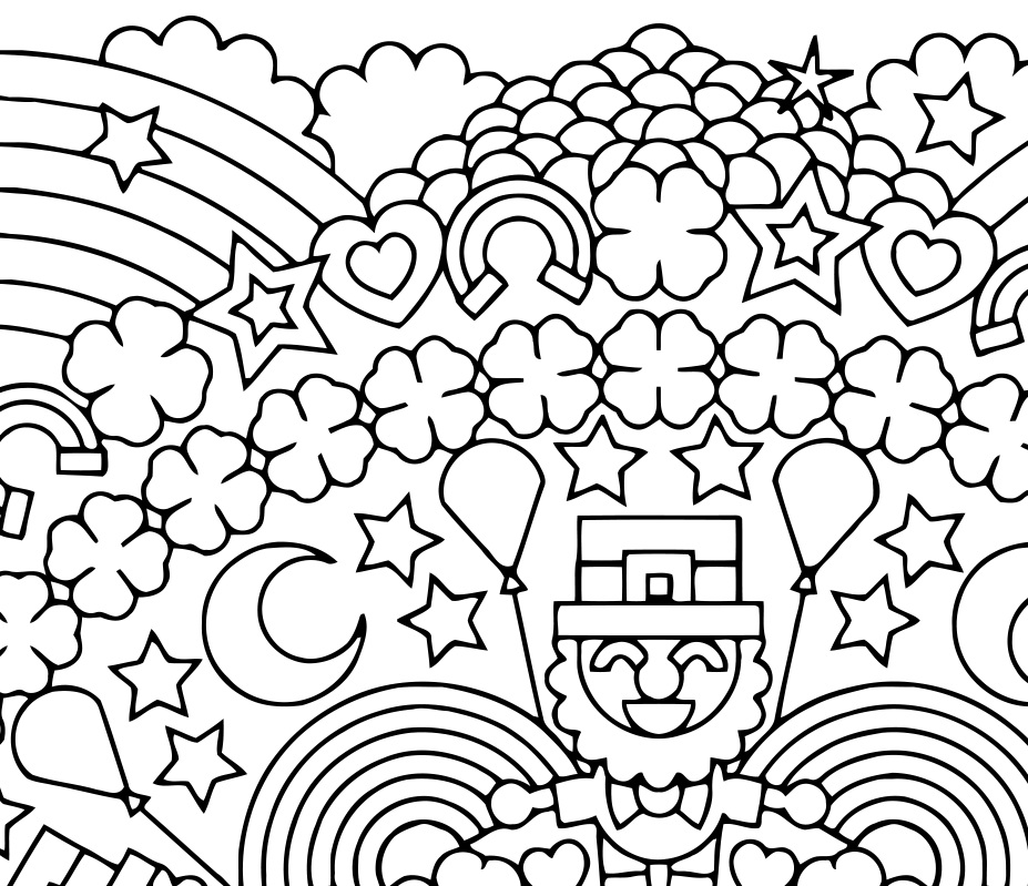 927x799 Lucky Charms Party A Leprechaun Coloring Page By Candy Hippie
