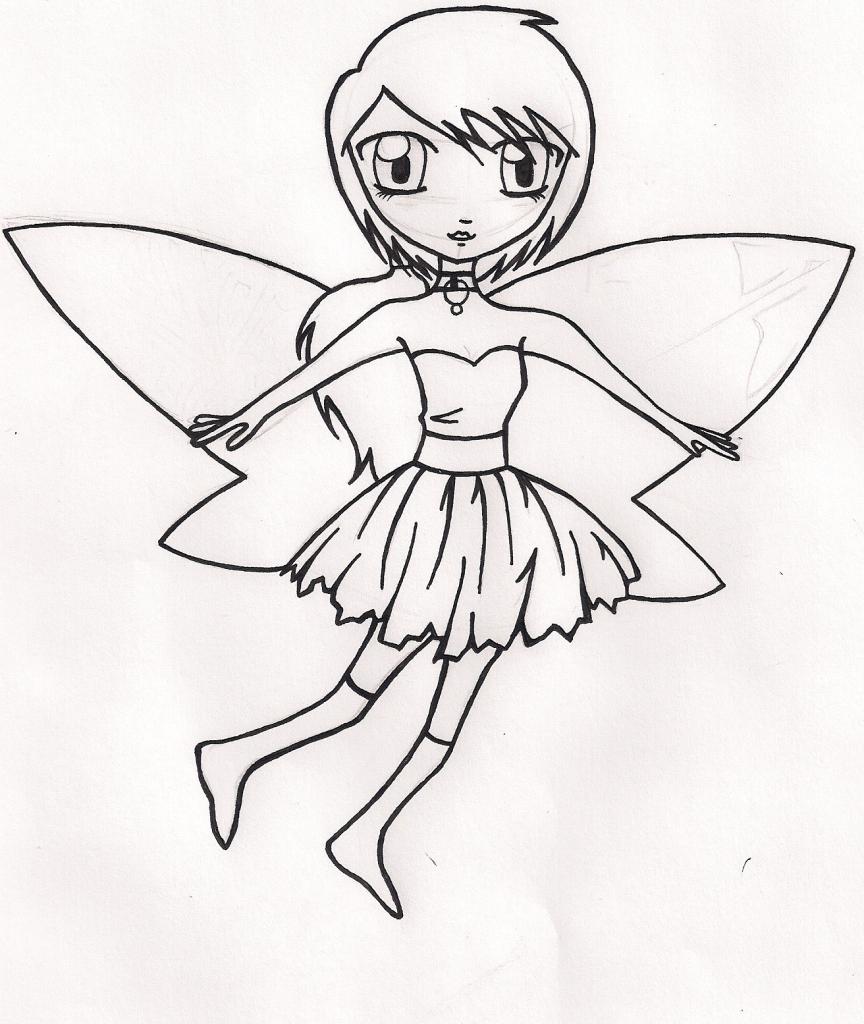 864x1024 Anime Fairy Drawings Anime Fairy Drawings Fairy Drawing. Step