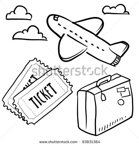 450x470 Doodle Style Air Travel Sketch In Vector Format Set Includes