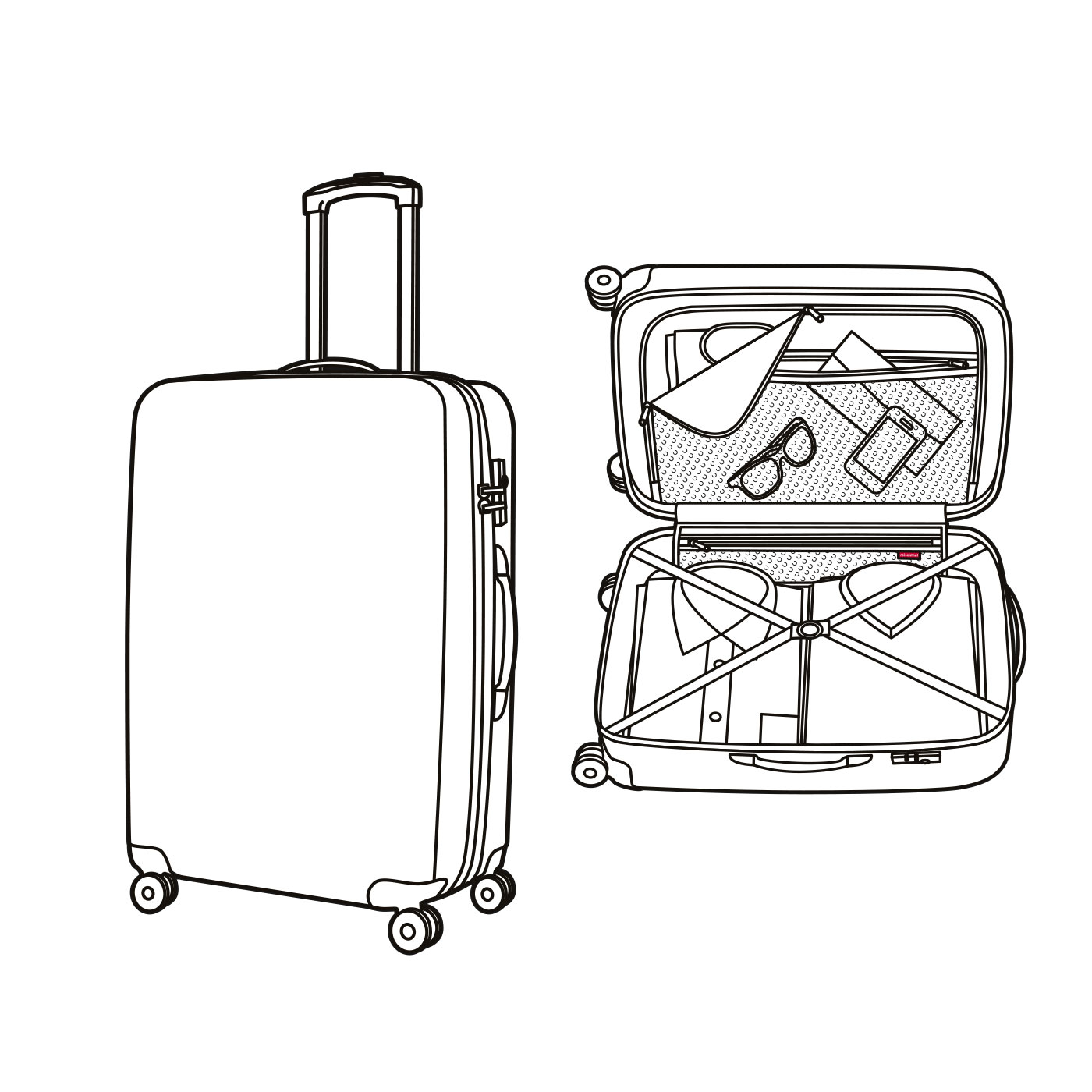 1400x1400 Suitcase M Special Edition Stamps (Suitcase, Black)