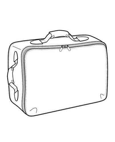 404x500 Suitcase Flat Sketch For Design