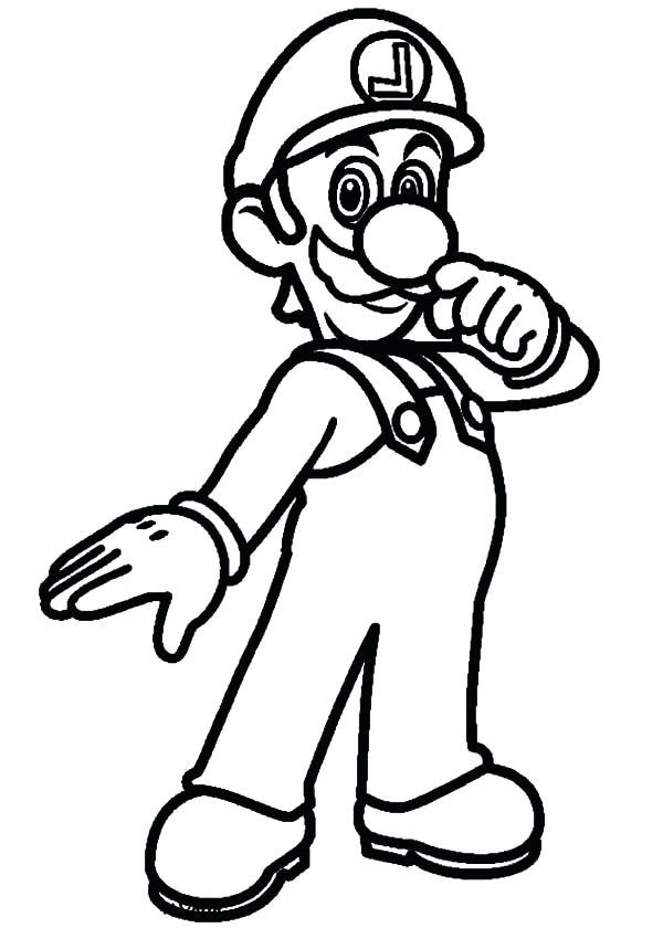 600x840 Luigi Coloring Pages Super Coloring Pages Super Coloring Size