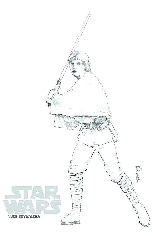 Luke Skywalker Drawing at GetDrawings.com | Free for personal use ...