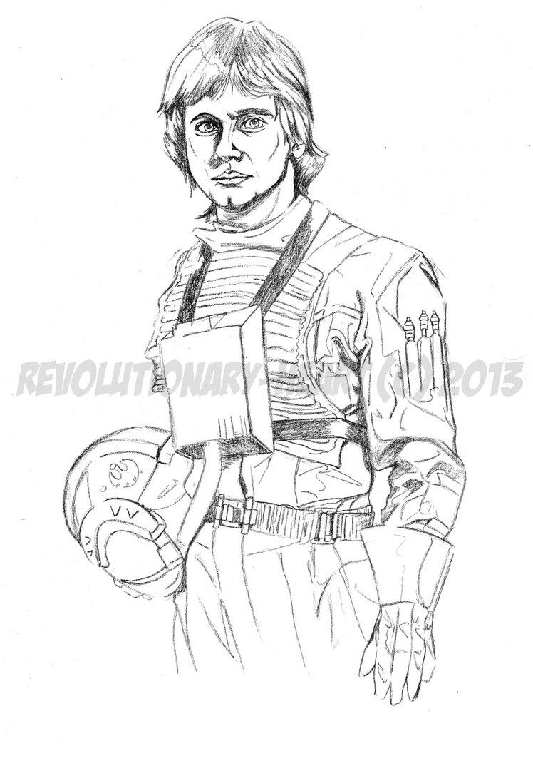 748x1067 Luke Skywalker (Line Art) By Gremmy X