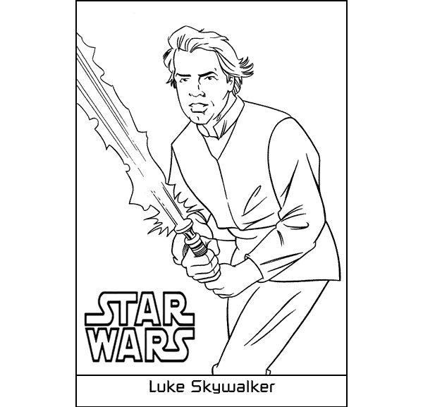 600x577 Luke Skywalker Coloring Pages