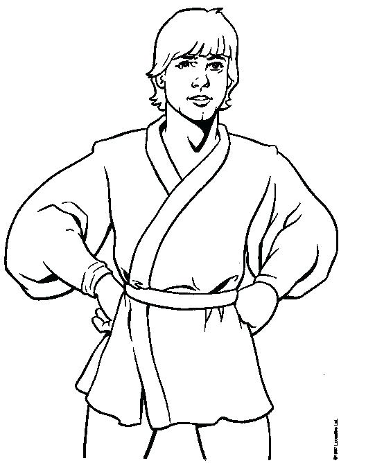 528x668 Luke Skywalker Coloring Pages Preschool To Tiny Draw Page Kids