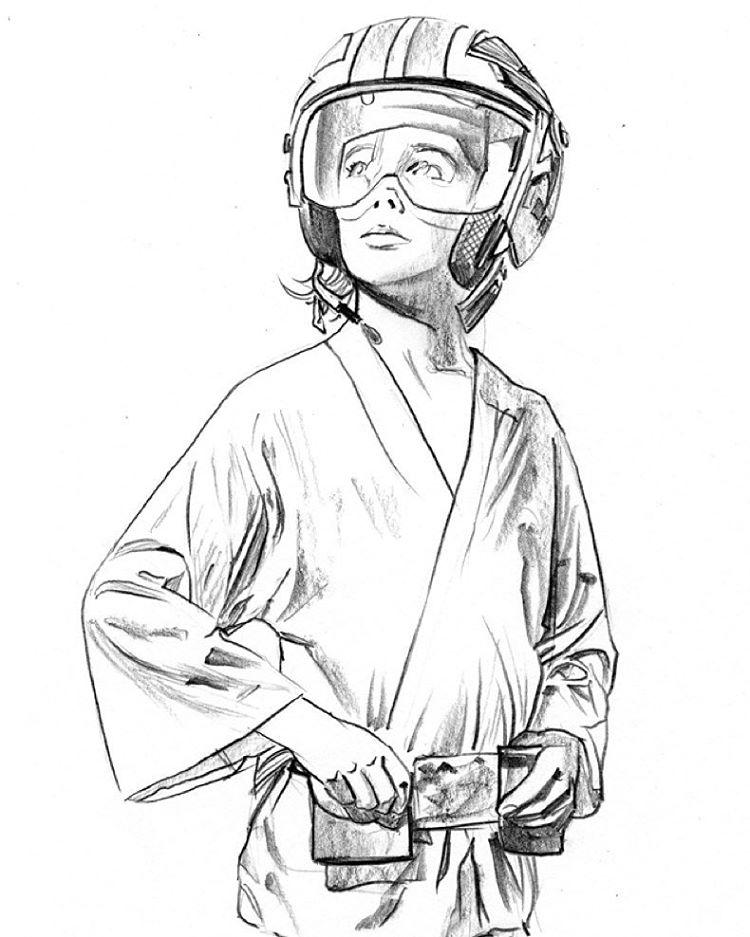 Luke Skywalker Drawing at GetDrawings.com | Free for ...
