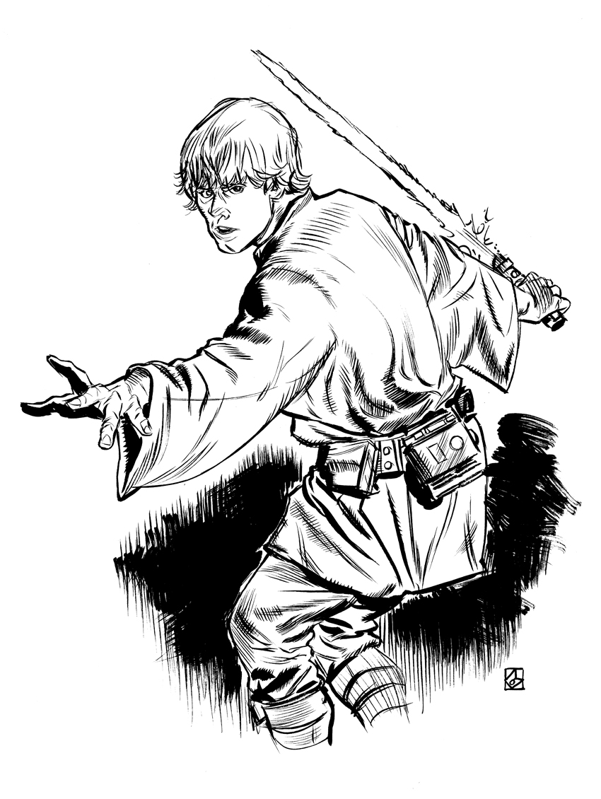 850x1130 Luke Skywalker By Deankotz On DeviantArt LineArt Star Wars