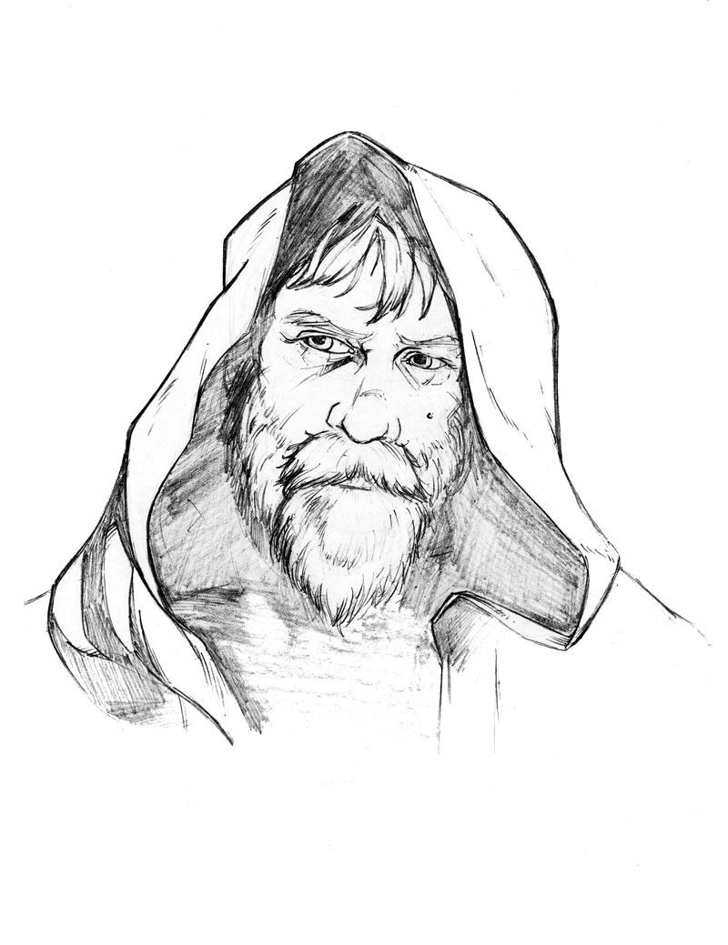 800x1039 Old Luke Skywalker Episode Vii The Force Awakens My Art