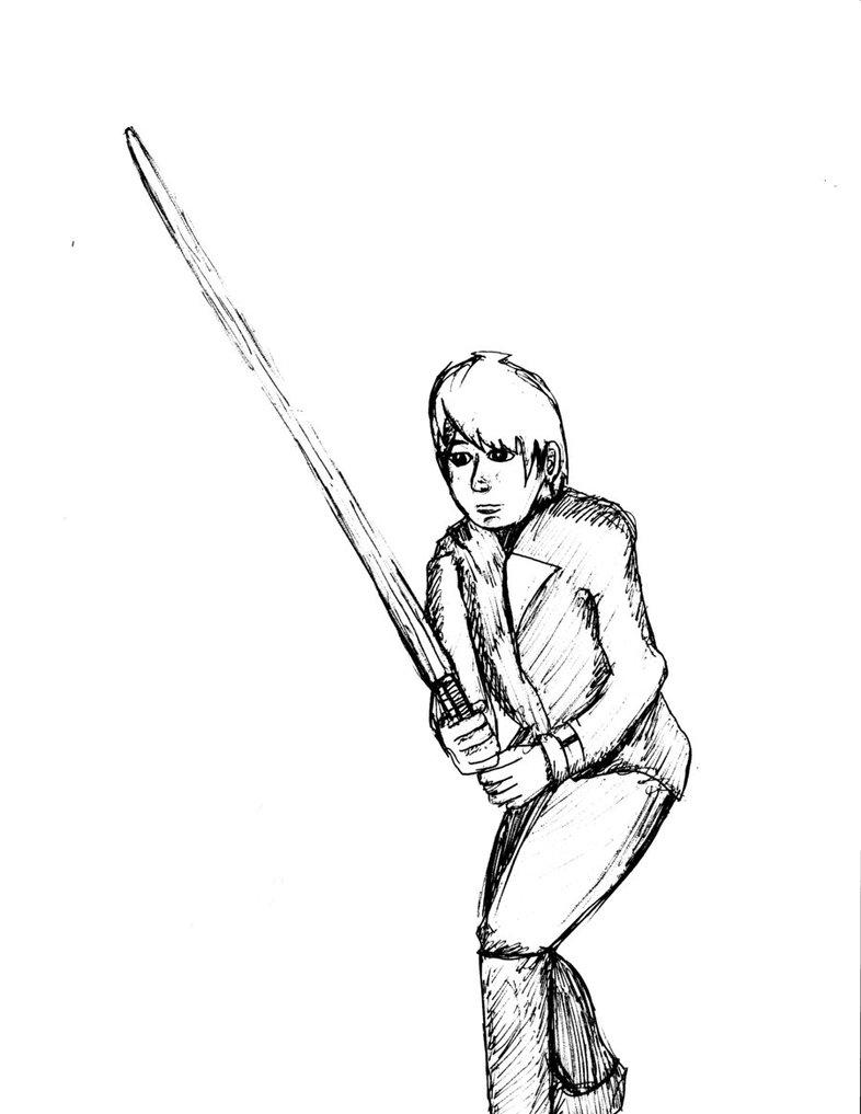 786x1017 Anime Luke Skywalker Rotj By Kenjiartworks