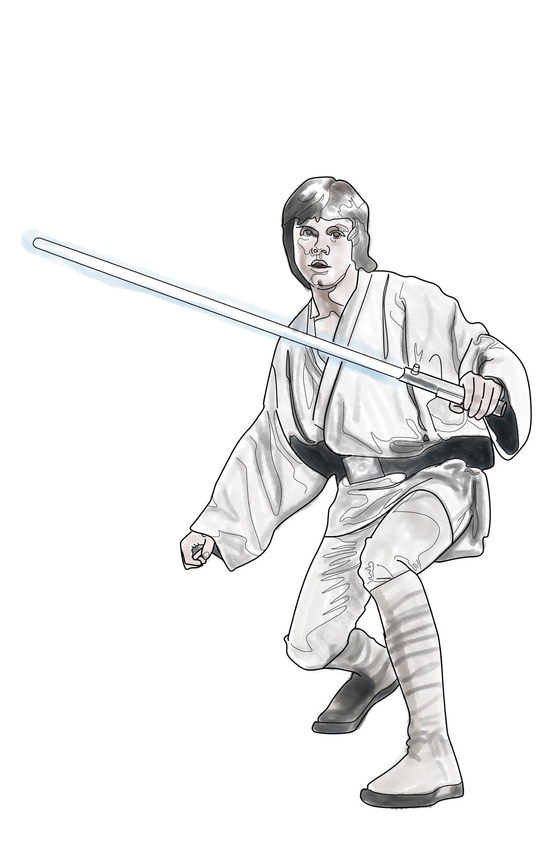 1118x1728 Superhero Comic Art By Me Unfinished Luke Skywalker Ink