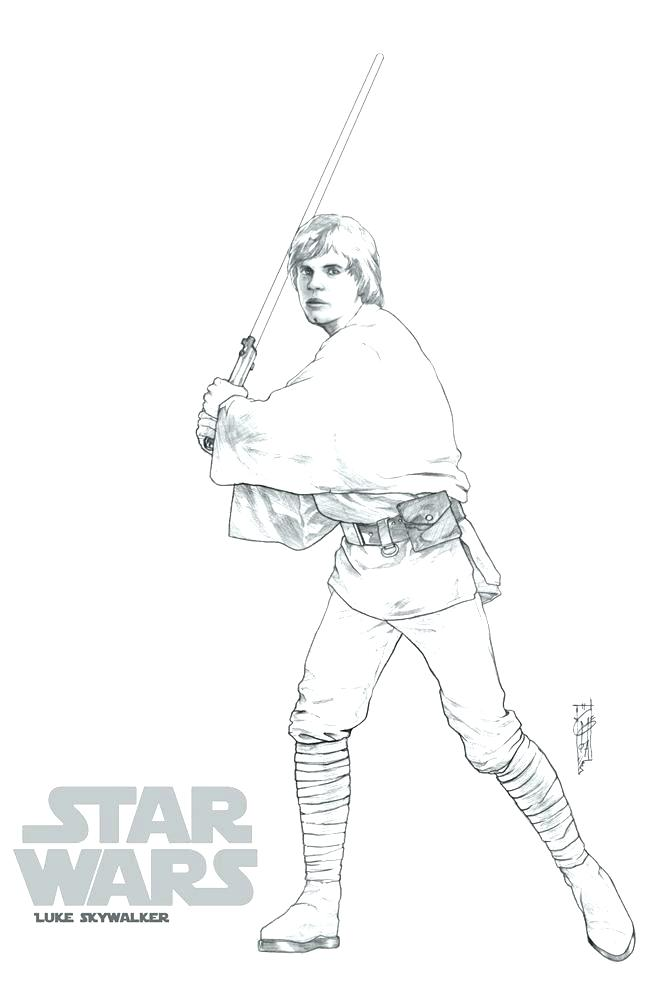 647x1000 Luke Skywalker Coloring Pages Murs
