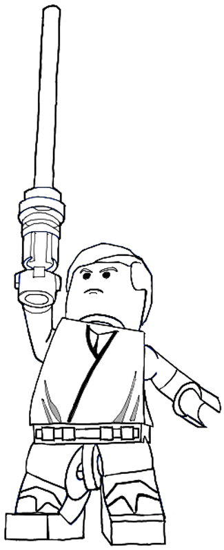 325x795 How To Draw Lego Luke Skywalker In Easy Steps Drawing Tutorial