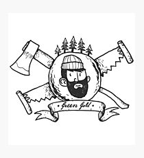 210x230 Lumberjack Drawing Photographic Prints Redbubble