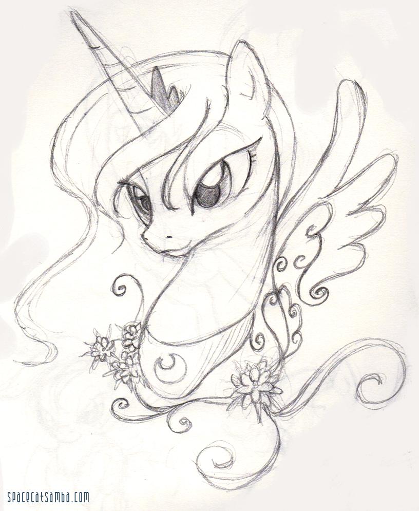 816x995 Luna Sketch By Sambaneko