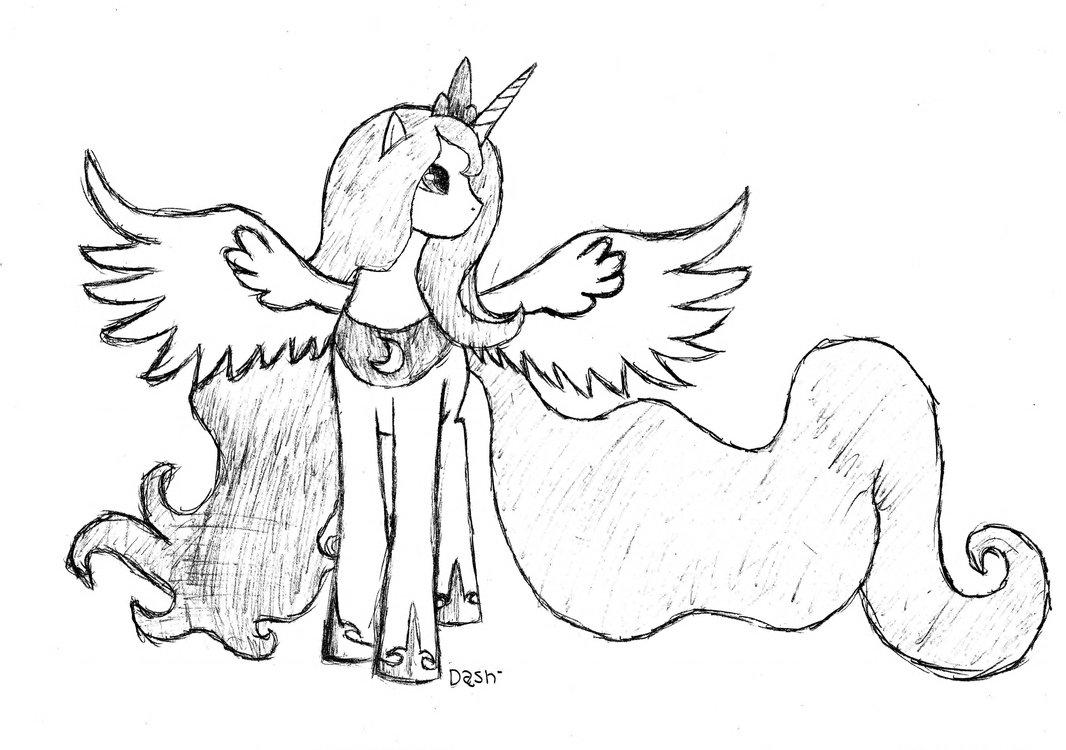 1066x750 Princess Luna By Dash1e