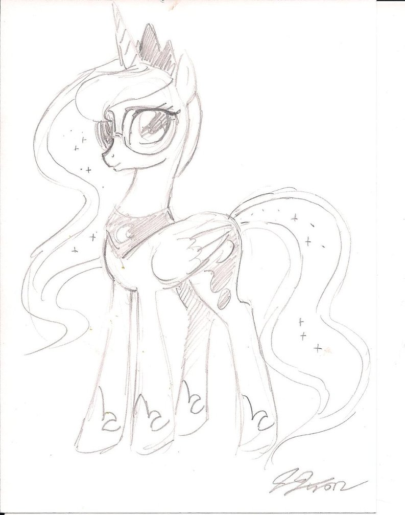 793x1007 Princess Luna Drawing By Toa Ignicus