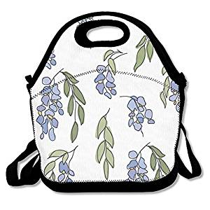 300x300 Delicate Wisteria Nature Lunch Box Tote Bag For Men Women Kids