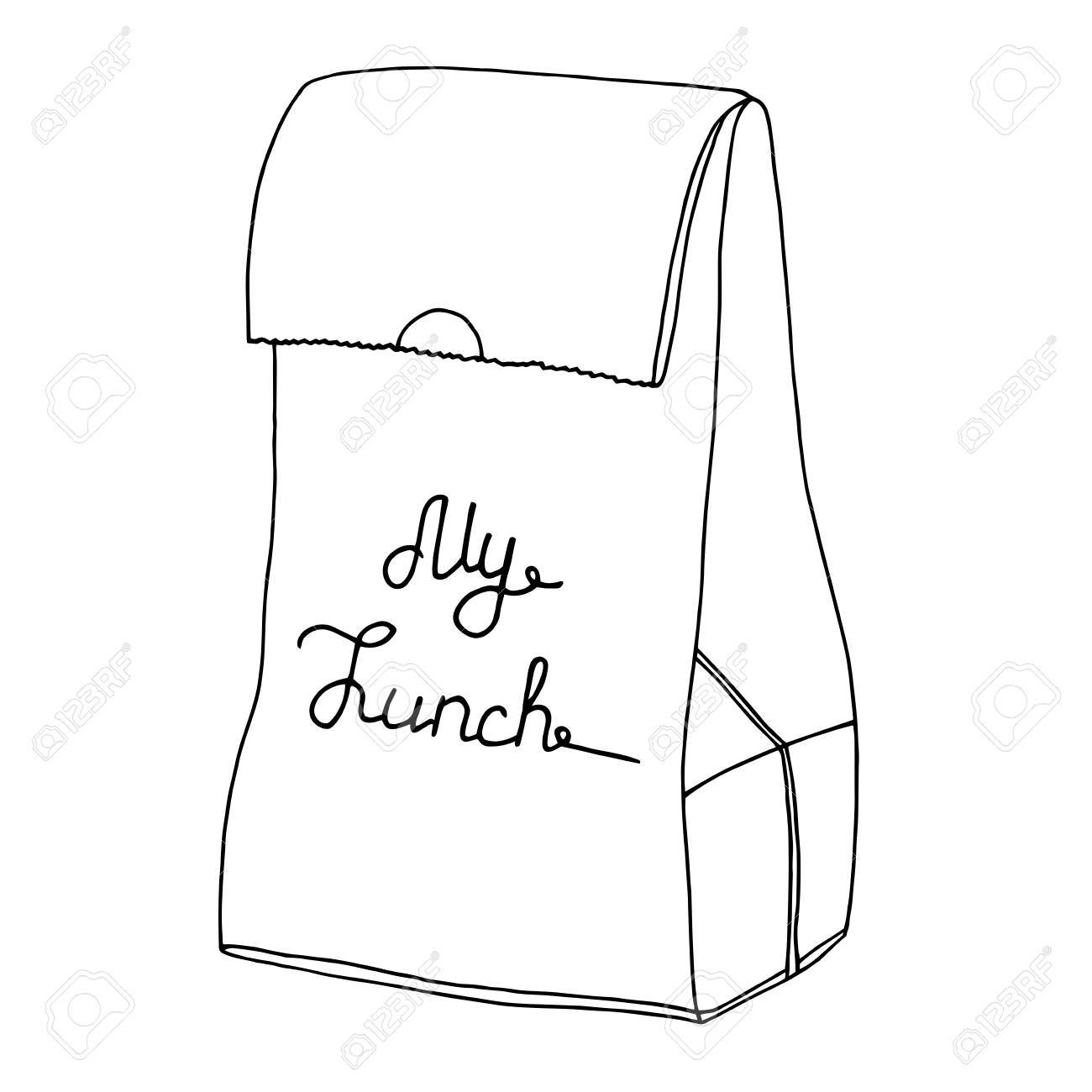 1300x1300 My Lunch. Food Bag, Lunch Bag, Lunchbox. Hand Drawn Artisitc