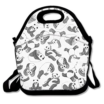 355x355 Panda Sketch Humor Lunch Bag For Men Women Kids Cool