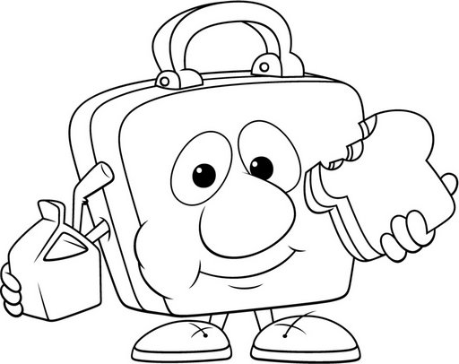512x406 Box Coloring Pages Lunch Box Coloring Pages Kids Coloring Pages