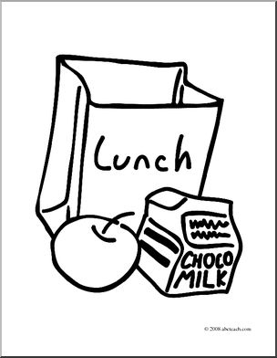 304x392 Clip Art Lunch Bag Coloring Page I Abcteach