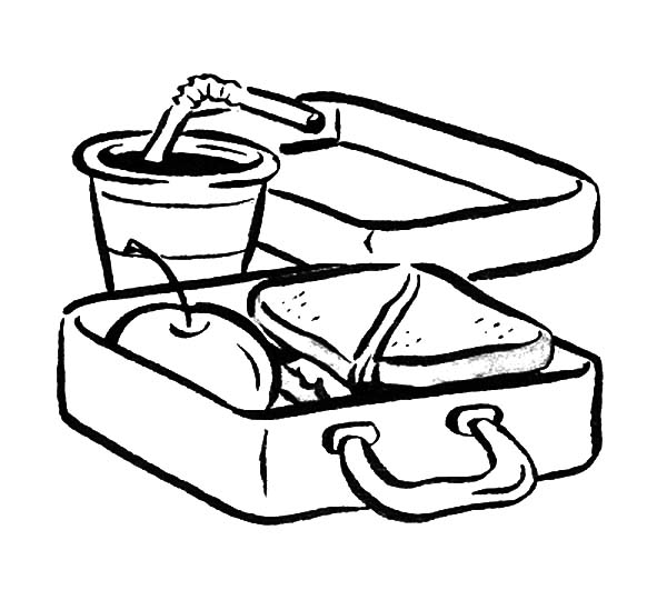 600x549 Lunch Box Coloring Pages